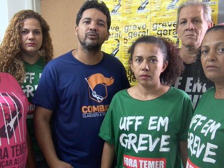 Coordenação do SINTUFF denuncia centrais traidoras e mantém mobilização dia 5/12