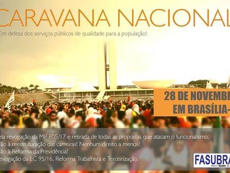 SINTUFF organiza ida a Brasília no dia 28 e Assembleia será na quinta-feira (30/11)