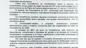 CUV aprova moção em defesa de conselheiros que reposicionaram aposentados em 2008
