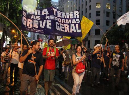 Atos pelo país expressam disposição de luta contra a Reforma no dia 19/2