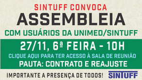 Assembleia de Usuários do convênio do SINTUFF com a Unimed