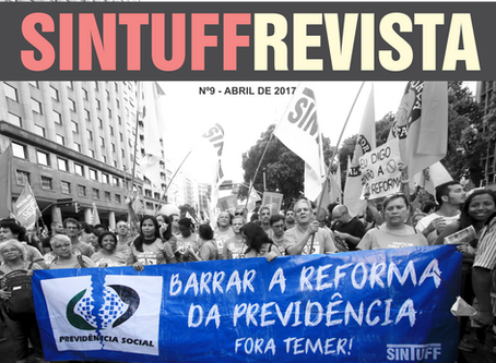 Revista abordará filiação do SINTUFF a uma central sindical