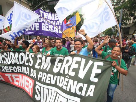 Protestos tomam as ruas no Rio e em todo país, apesar do desmonte das maiores centrais