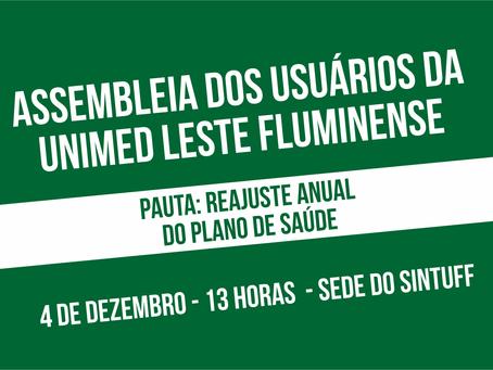 Assembleia de usuários da Unimed Leste Fluminense