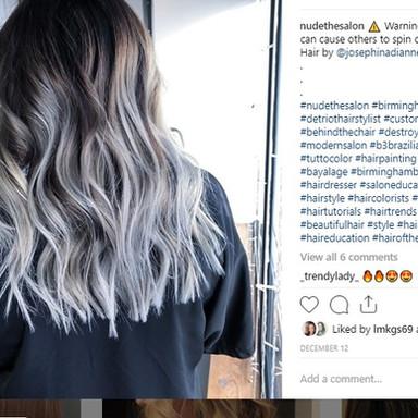 Nude the Salon Instagram Post