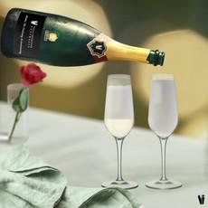 Custom branded Champagne animation by Ne