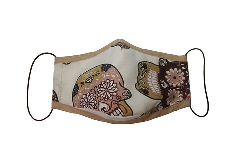Mexikói koponyás maszk (barna)