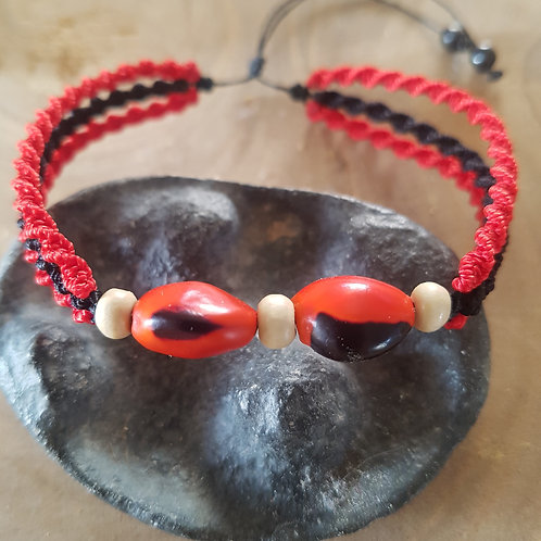 Bracelet Tulum Rouge / Corail