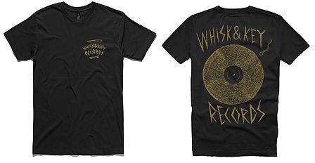 Whisk and Key Records - On The Record Shirt