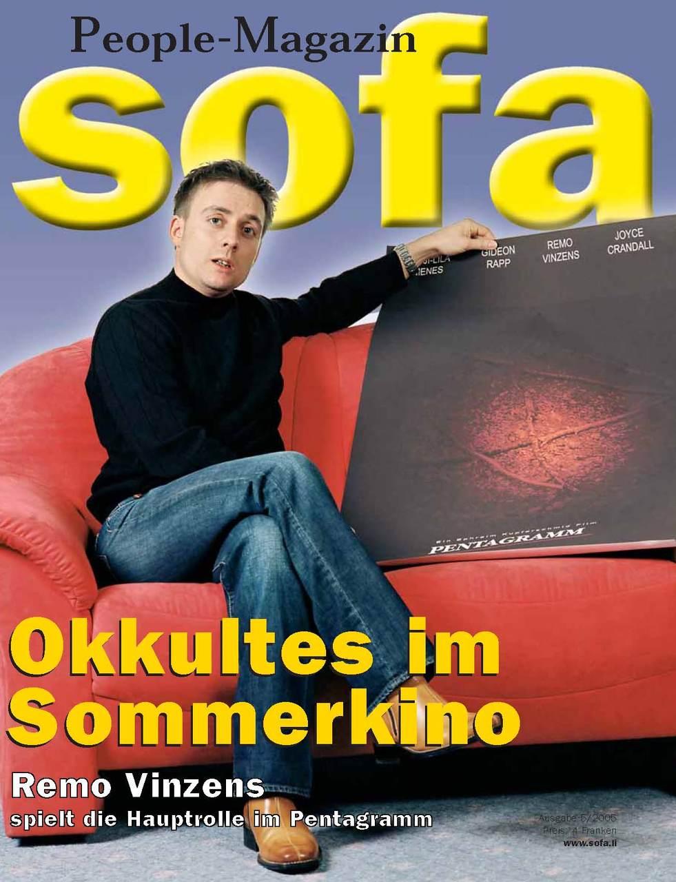 Remo Vinzens on Sofa People Magazin