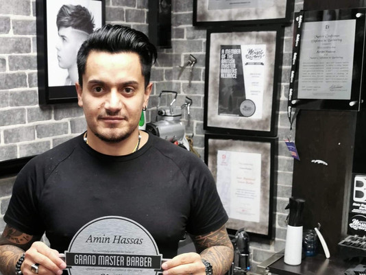 Amin Hassas At Mr Snippers Barber shop