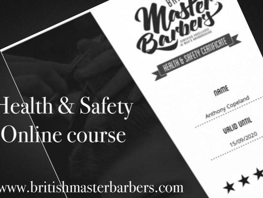 The Official Barbering Health & Safety Course is now live