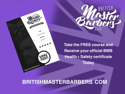 How to take the FREE British Master Barbers online Health and Safety course.