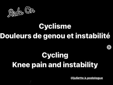 Cyclisme : douleurs de genou et instabilité