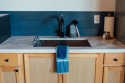Bungalow Kitchen Sink Close-up