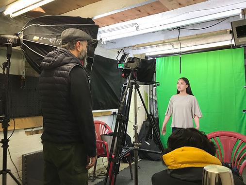 Video Shoot in Green Screen