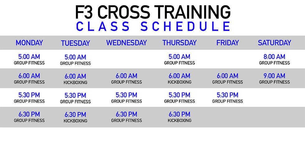 F3 Cross Training Gym Houston Schedule.j