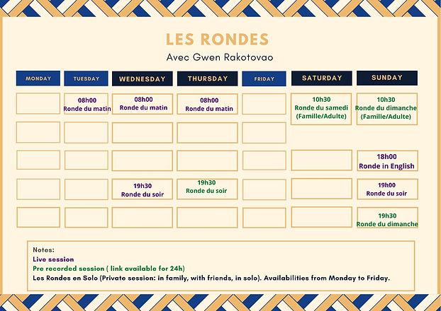 Les Rondes schedule eng