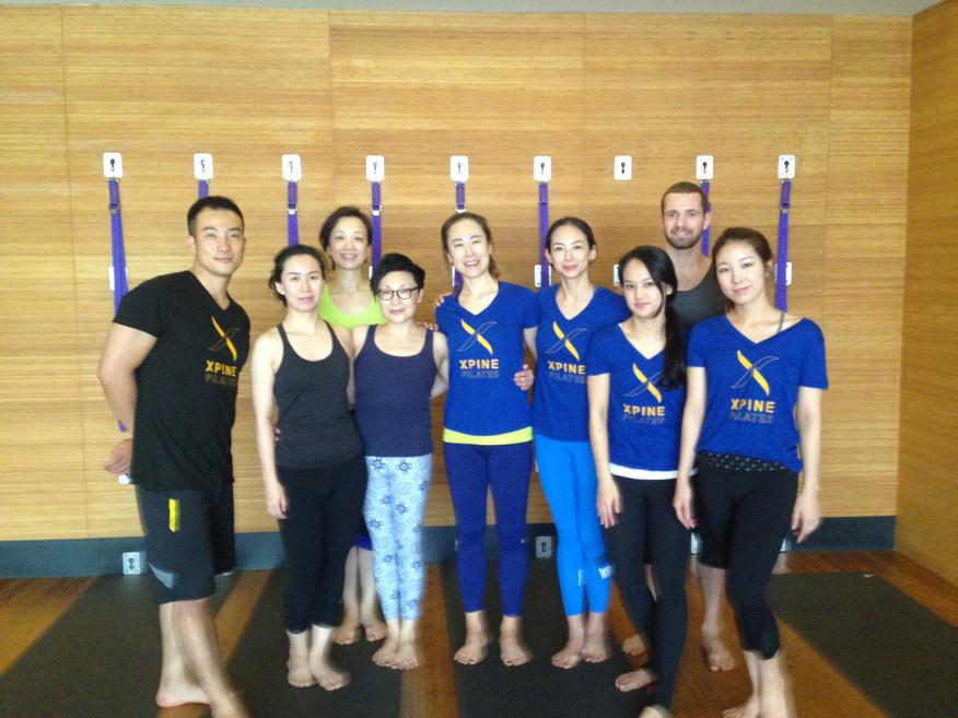 Shanghai Pure yoga Yogawall workshop 2015
