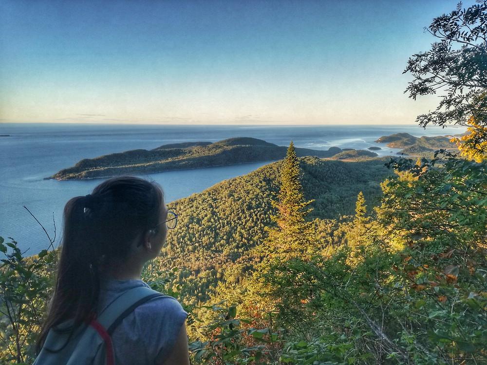 Un des belvédère du Pic Champlain Destination Québec En famille