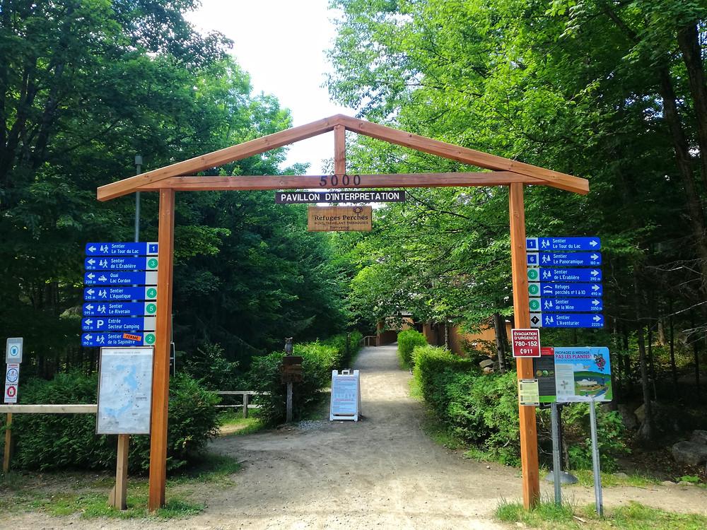Parc Eco Laurentides Destination Québec en Famille centre d'interprétation