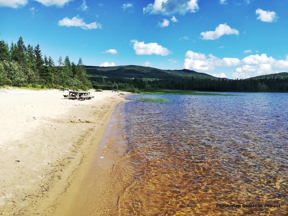 Lac des sables Parc Nationale Mont-Tremblant Destination Québec En famille