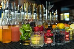 Mixed cocktails at the bar