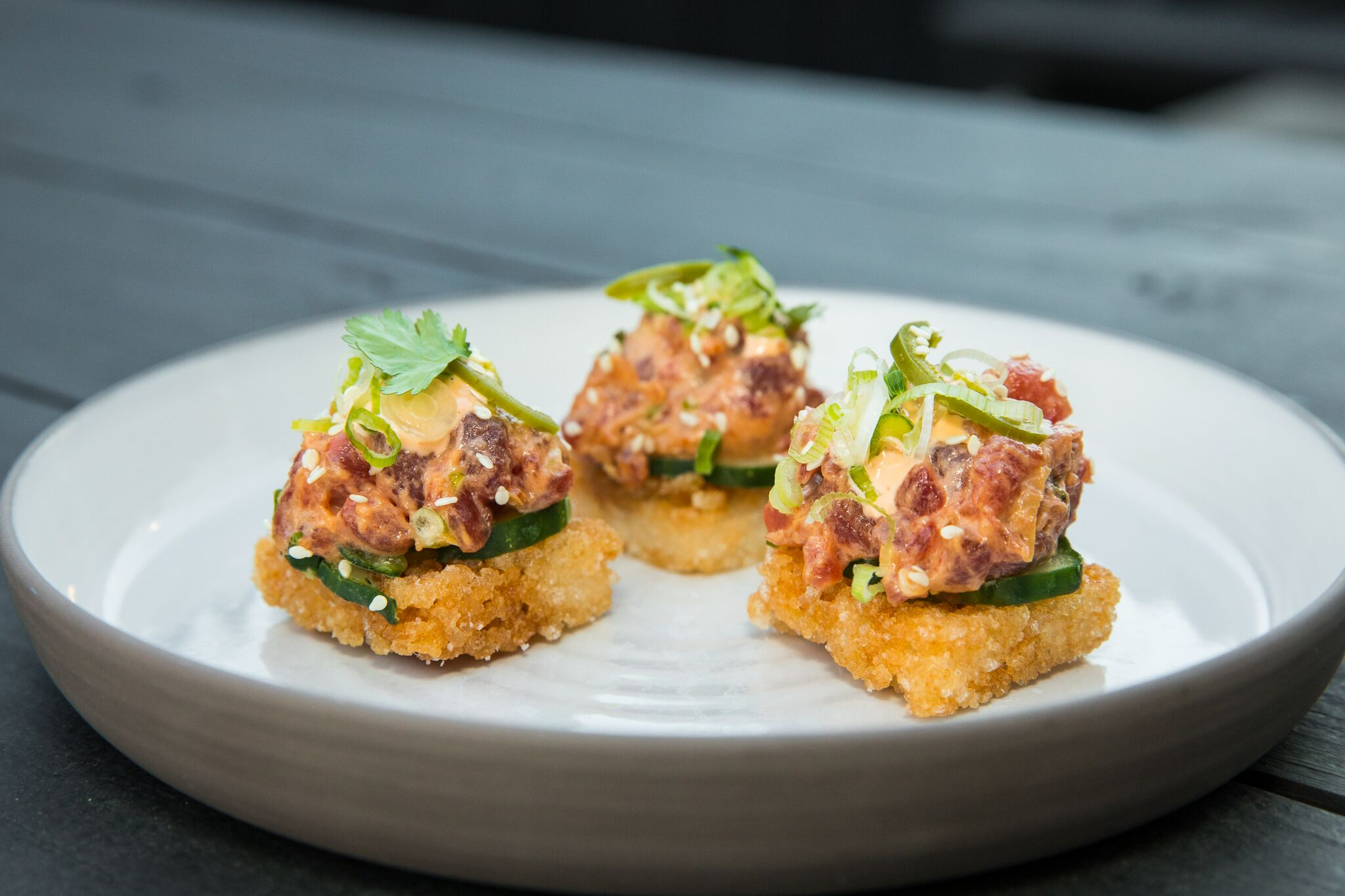 Mini tuna bites appetizer