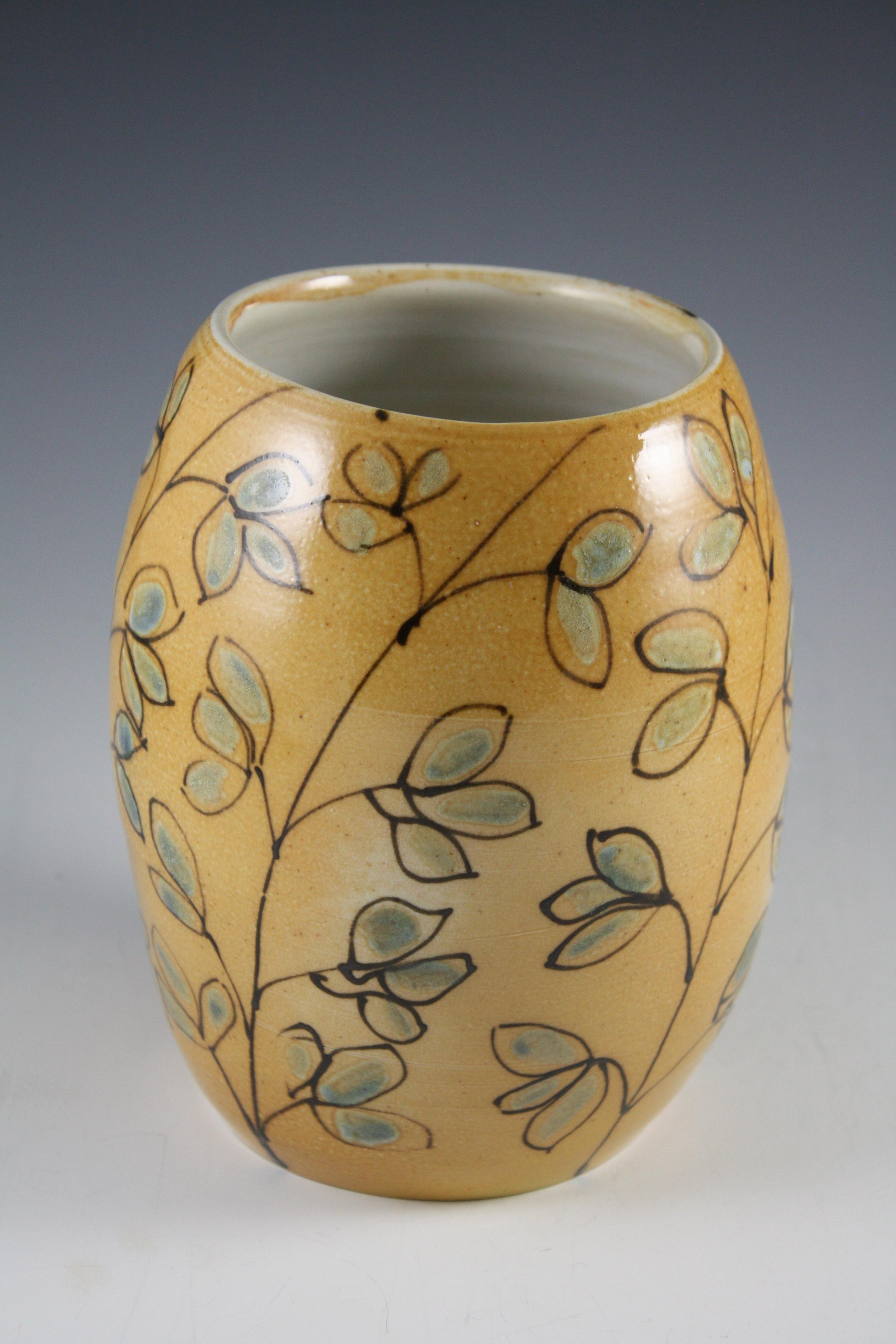 Vase with Floral Design