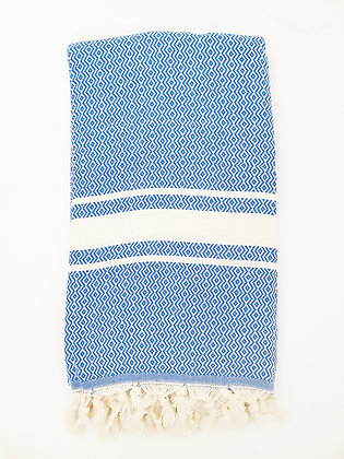 מגבת דגם יהלום גלי כחול