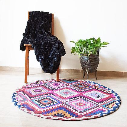 שטיח גיאומטרי עגול קוטר 100 ס״מ