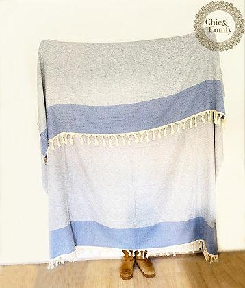 שמיכה בדגם יהלום תכלת