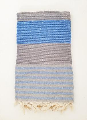 מגבת דגם כוורת עם פסים