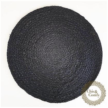 פלייסמנט חבל צבע שחור קוטר 38 ס״מ