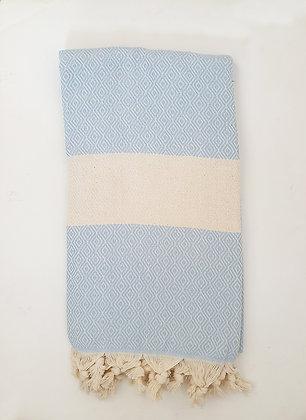 מגבת דגם יהלום תכלת