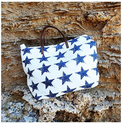 ChicBag תיק לבן עם כוכבים כחולים