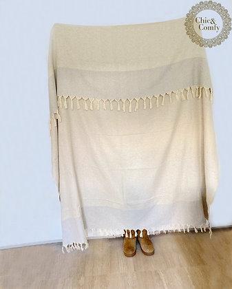 שמיכה בדגם יהלום אפור