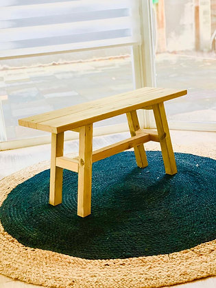ספסל מעץ אורך 80 ס״מ