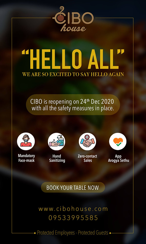 CIBO house Best European Restaurant in H