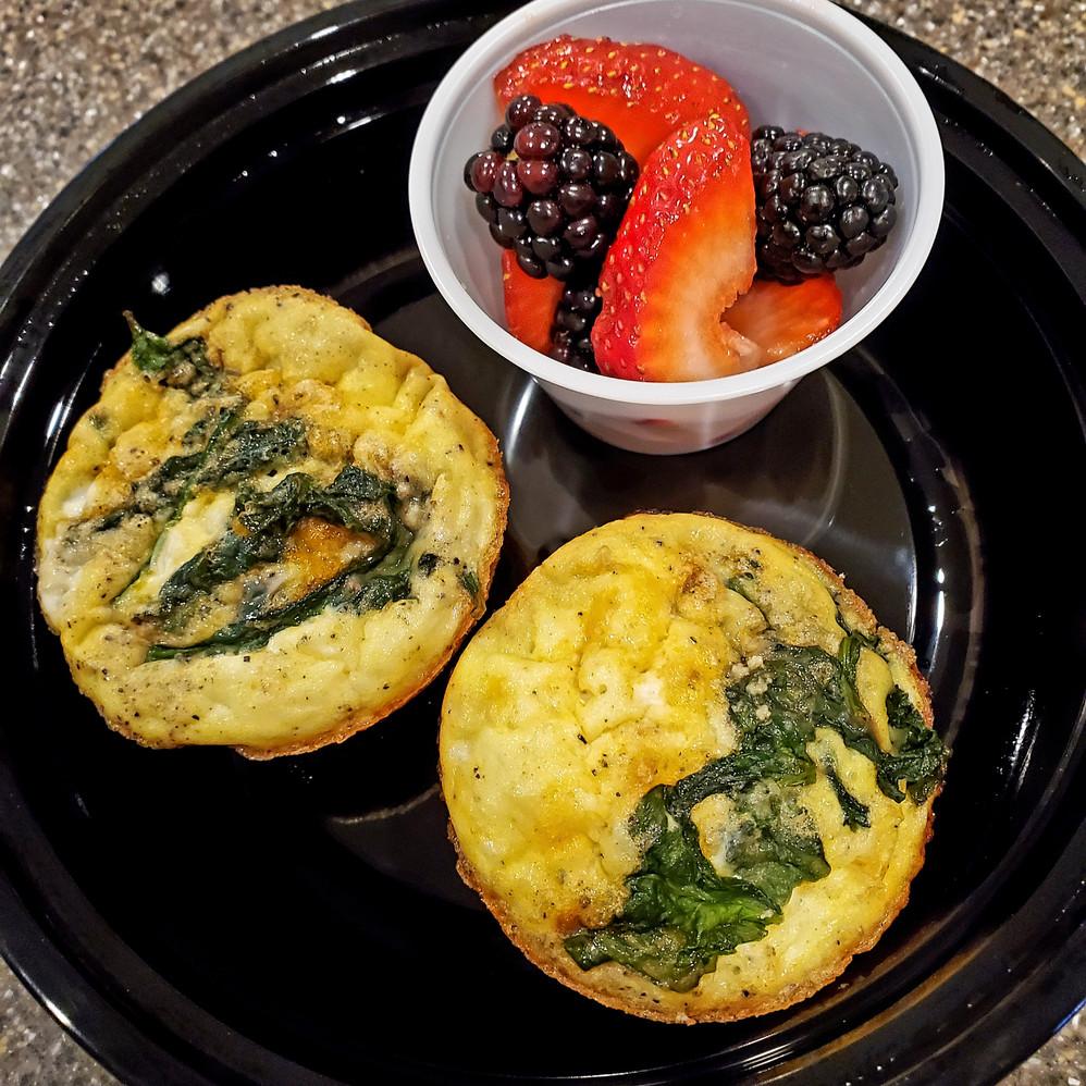 Spinach, Sun-Dried Tomato and Feta Frittata