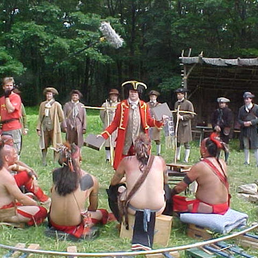 Sir William with the Indians