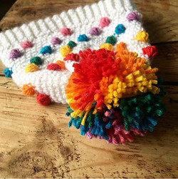 Rainbow bobble hat Crochet Pattern