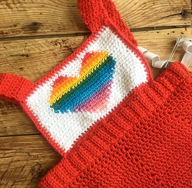 Pride dress Crochet pattern