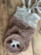 Simon sloth crochet pattern market / shopping fold away bag by pennies from evon