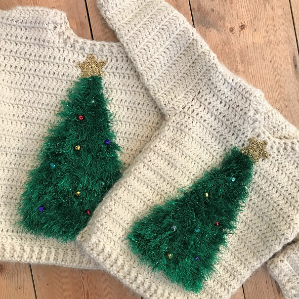 Family Crochet Christmas jumpers