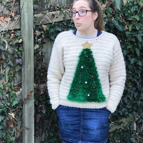 Tinsel Tannenbaum Christmas Jumper