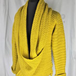 Slouchy Cowly Cardi Crochet Pattern
