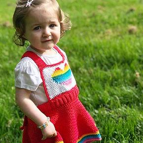 Pride pinnafore dress crochet by penniesfromdevon pattern kids