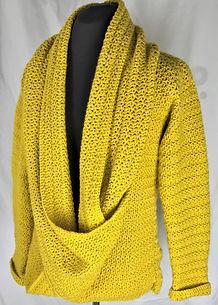 Slouchy Cardigan, jumper, pullover, sweater, crochet pattern by penniesfromdevon