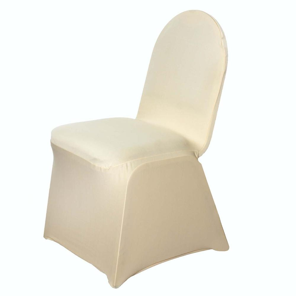 champagne stretch chair cover